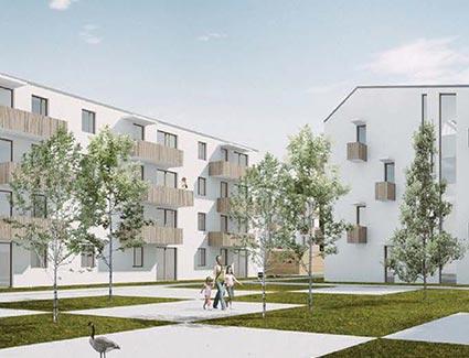 Architekt Pfoser: Wohnhausanlage Handel Mazetti Strasse — Vorschaubild