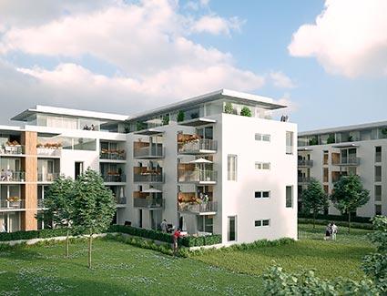 Architekt Pfoser: Wohnhausanlage Hötzendorfstraße — Vorschaubild