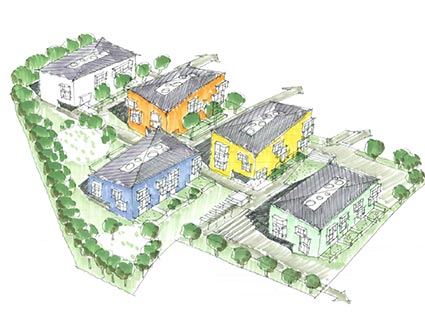 Architekt Pfoser: Wohnhausanlage Karl Pfeffer Strasse — Vorschaubild