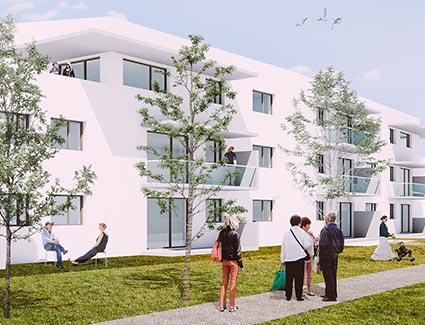 Architekt Pfoser: Wohnhausanlage Stifterstraße — Vorschaubild